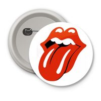 Chapa The Rolling Stones blanca