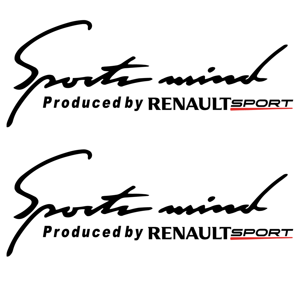 Pegatinas para coches Renault Sport mind