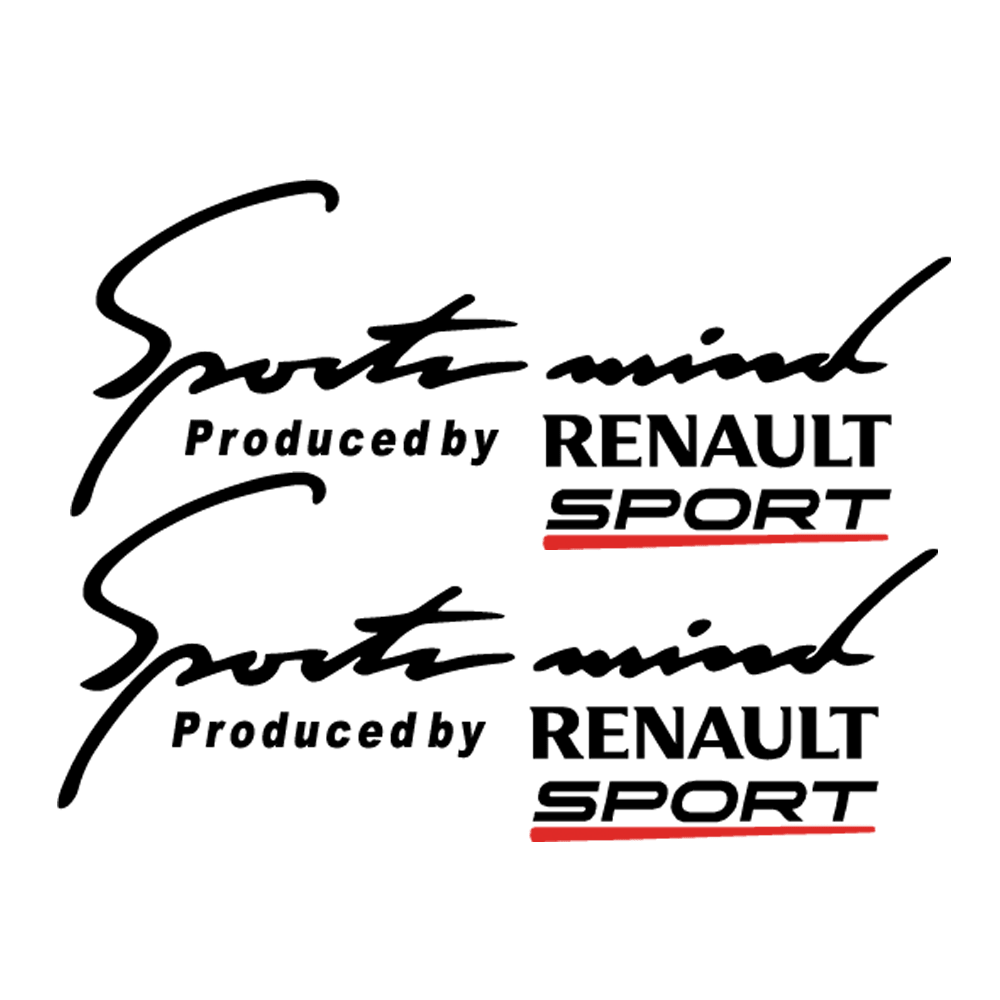 Pegatinas para coches Renault Sport mind 2